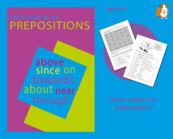 Brush Up On Using Prepositions (Improve Your English Work Packs) 9-14 years