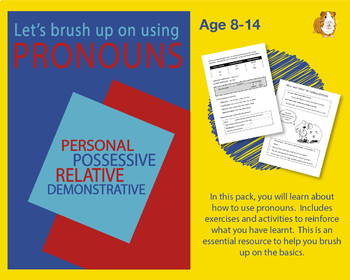Brush Up On Using Pronouns (Improve Your English Work Packs) 9-14 years