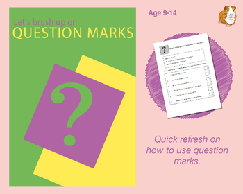 Brush Up On Using Question Marks (Improve Your English Work Packs) 9-14 years