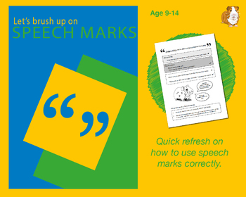 Brush Up On Using Speech Marks (Improve Your English Work Packs) 9-14 years