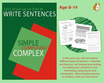 Brush Up On Writing Sentences (Improve Your English Work Packs) 9-14 years