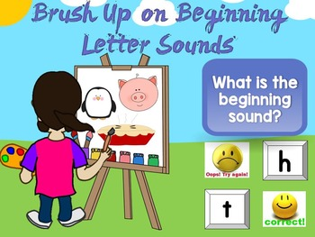 Beginning Sounds Assessment PowerPoint Game