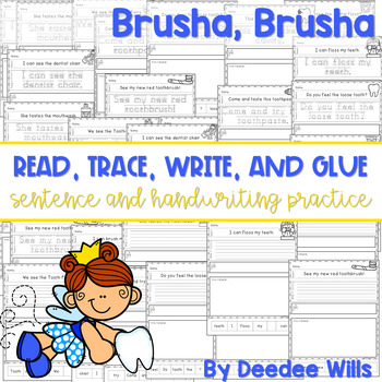Brusha Brusha (dental health): Read, Trace, Glue, and Draw