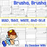 Brusha Brusha (dental health): Read, Trace, Glue, and Draw