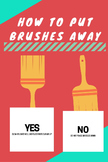 Brushes Poster