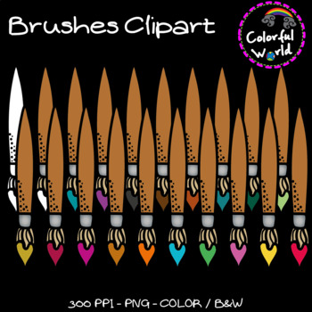 Brushes clipart