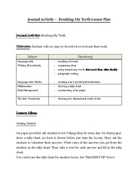 Brushing My Teeth--Activity and Lesson Plan (Freebie)