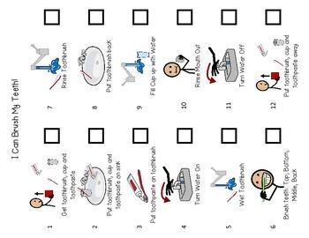 Brushing Teeth- Flip Book & Visual Schedule
