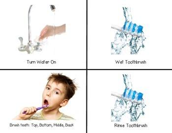 Brushing Teeth- Flip Book & Visual Schedule- Photos