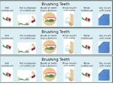 Brushing Teeth Guide, Autism, Life Skills, Instructions