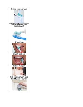 Brushing Teeth Picture Schedule