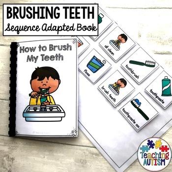 Brushing Teeth Life Skills Adapted Book Sequencing