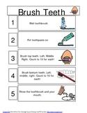 Brushing Teeth mini schedule