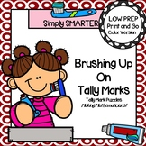 Brushing Up On Tally Marks:  LOW PREP Dental Health Themed Tally Mark Puzzles