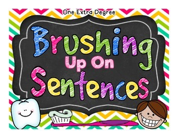 Brushing Up on Sentences: Centers for Intermediate Kiddos!