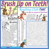 """Brushing Up on Teeth"" Dental Health 2-Page Activity Set and Word Search Puzzle"