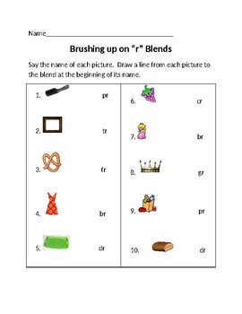 "Brushing Up on ""r"" Blends"