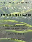 "Bryant's ""Thanatopsis"" - Fireside Poetry - Rhetorical Anal"