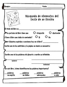 Texto informativo Scavenger Hunt (Nonfiction Elements Scavenger Hunt)