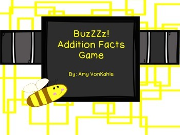 BuZzzZ!  Addition Facts Game