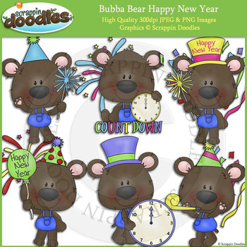 Bubba Bear Happy New Year