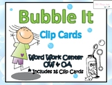 Bubble It Clip Cards/ OW & OA Vowel Teams ~ Center Activity