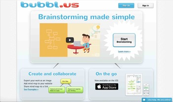 Bubbl mind maps tutorial.  how to use bubbl.us
