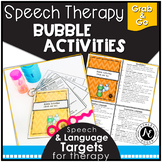 Speech Therapy Bubble Activities - Grab and Go