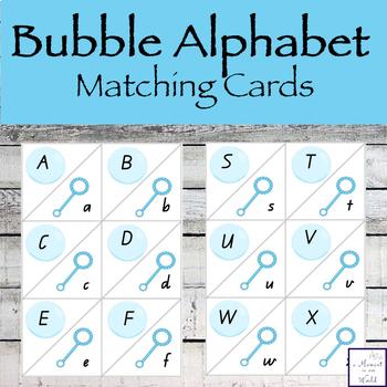 Bubble Alphabet Matching Cards