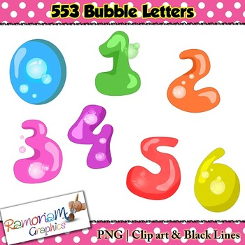 Alphabet Letters Bubble clip art