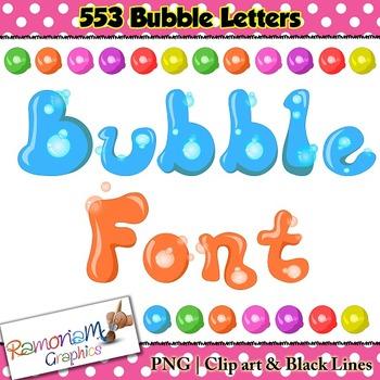 Bubble Alphabet Letters clip art