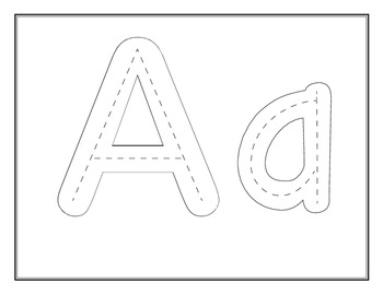 Bubble Alphabet with dotted lines inside