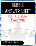 Bubble Answer Sheets