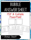 Bubble Answer Sheets
