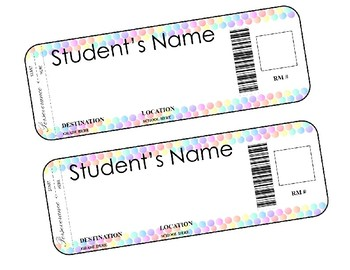 Bubble Back to School Name Tags- Editable!