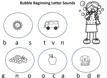 Bubble Beginning Sounds
