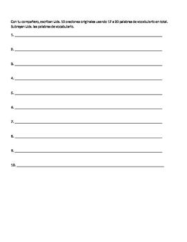 Bubble Bingo blank template