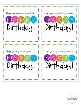 Bubble Birthday Cards