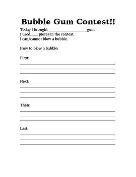 Bubble Blowing Contest!