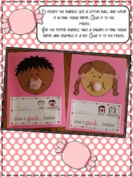 Blow a Bubble Craftivity Graphing & Writing Activities for the 50th Day