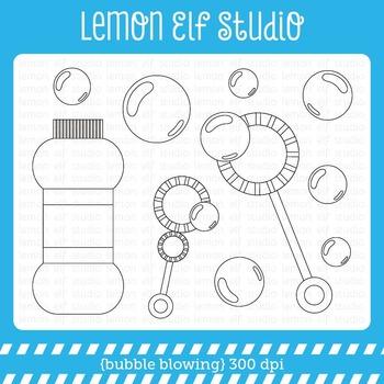 Bubble Blowing-Digital Stamp (LES.DS43)