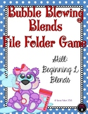 Bubble Blowing L Blends Phonics File Folder Game Literacy Center