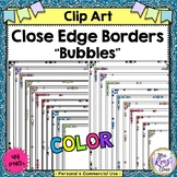 Bubble Borders or Frames with Close Edges in Multiple Colo