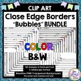 Close Edge Border Frames Bubbles MEGA Set in Black + White & Color (84 PNGs)