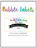 """Bubble Bottle Labels """"You BLEW Me Away This Year"""""""