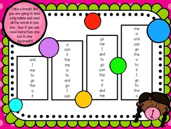 Bubble Boxes- Sight Word Fluency Practice