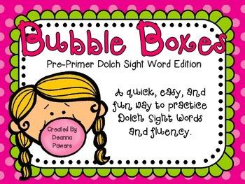 Bubble Boxes- Sight Word Fluency Practice