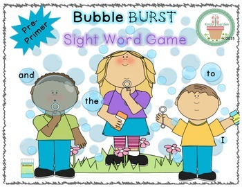 Dolch Sight Word Game (Pre-Primer)
