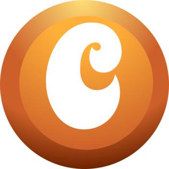 Bubble/Button Alphabet Clipart  - Capital Letters  - 300 DPI