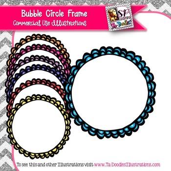 Bubble Circle Frame Clip Art